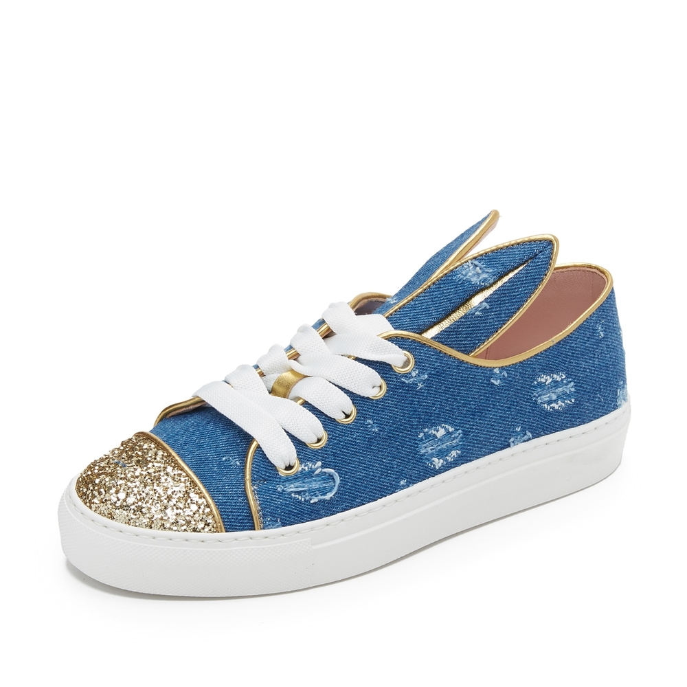 Denim glitter lowtops $335