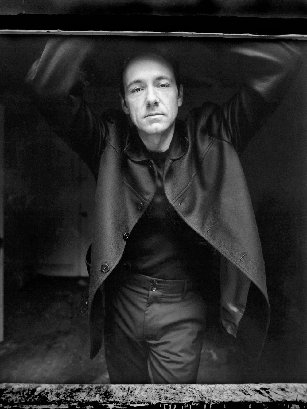 Kevin Spacey photographed by Patrik Andersson downtown Los Angeles at the location of the movie Seven
