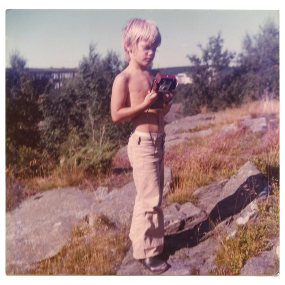 Patrik Andersson getting ready to make a photo using his first camera