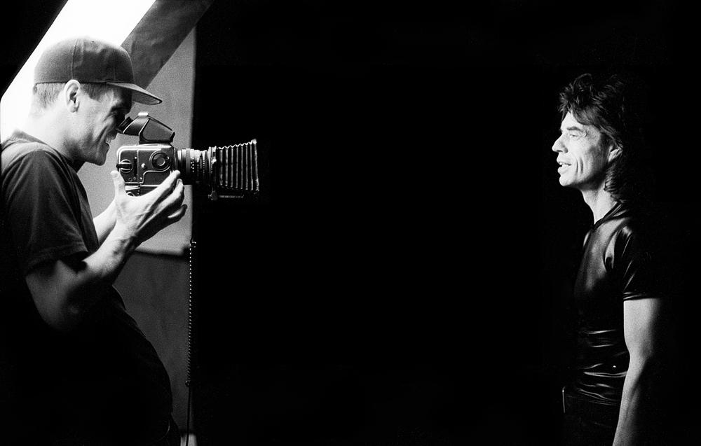 Patrik Andersson shoots Mick Jagger in his TriBeCa studio   PH Cristina Estadella