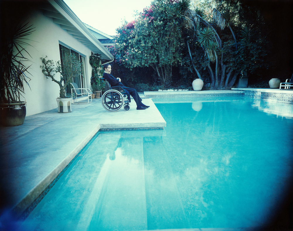 Richard Pryor at his pool photography   by Patrik Andersson