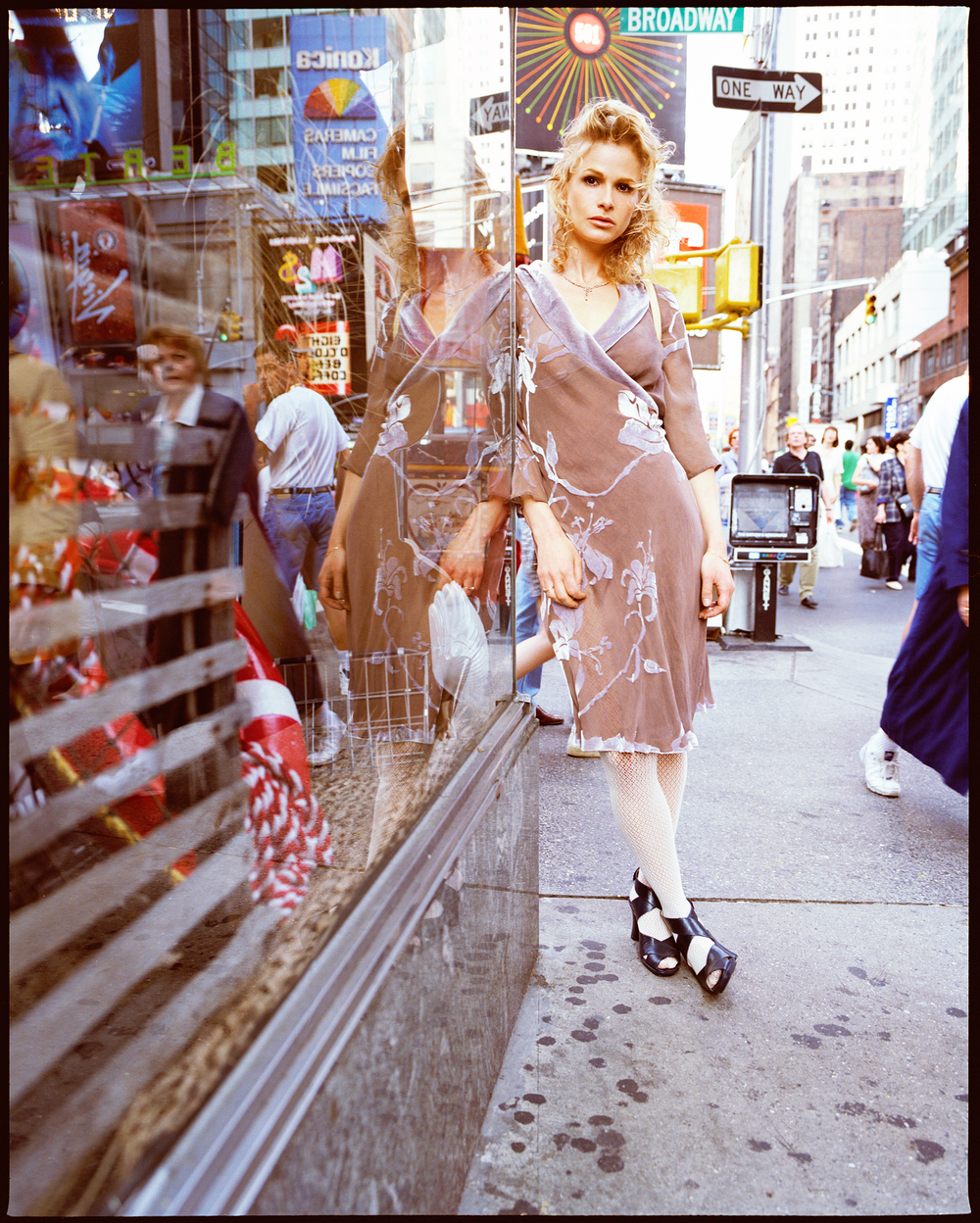 Kyra Sedgwick photographed by Patrik Andersson in Times Square New York City