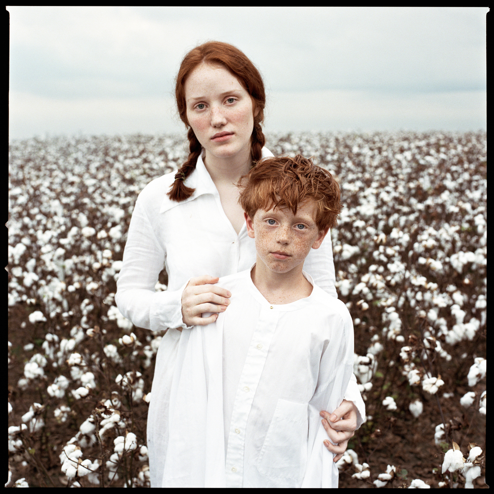 Cotton fashion story with real people casting photographed by Patrik Andersson on location in Arkansas
