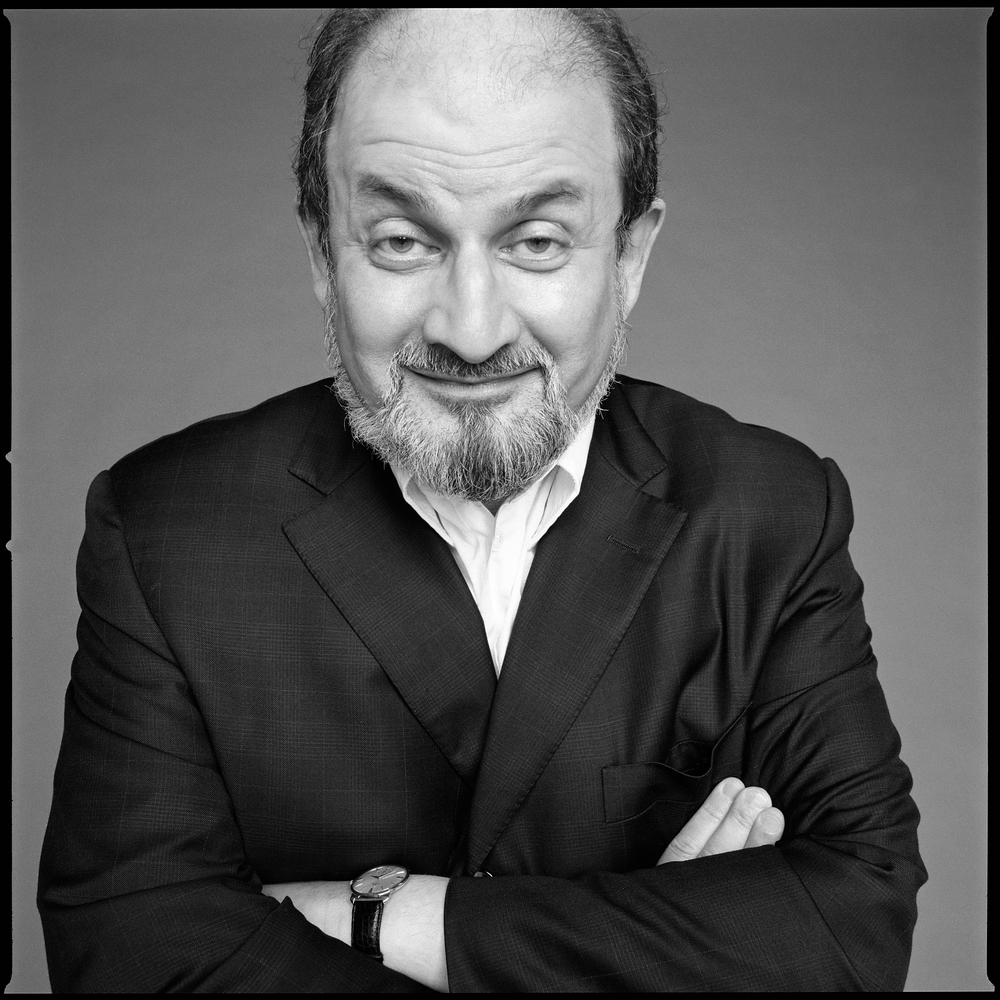Salman Rushdie photographed by Patrik Andersson