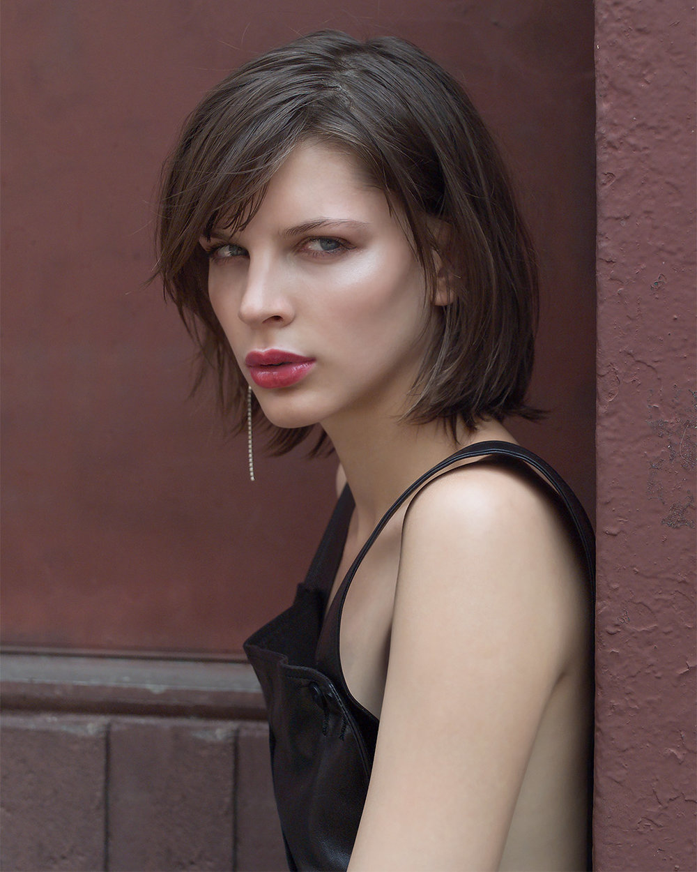 Model Agota Varga photographed by Patrik Andersson downtown NYC street style