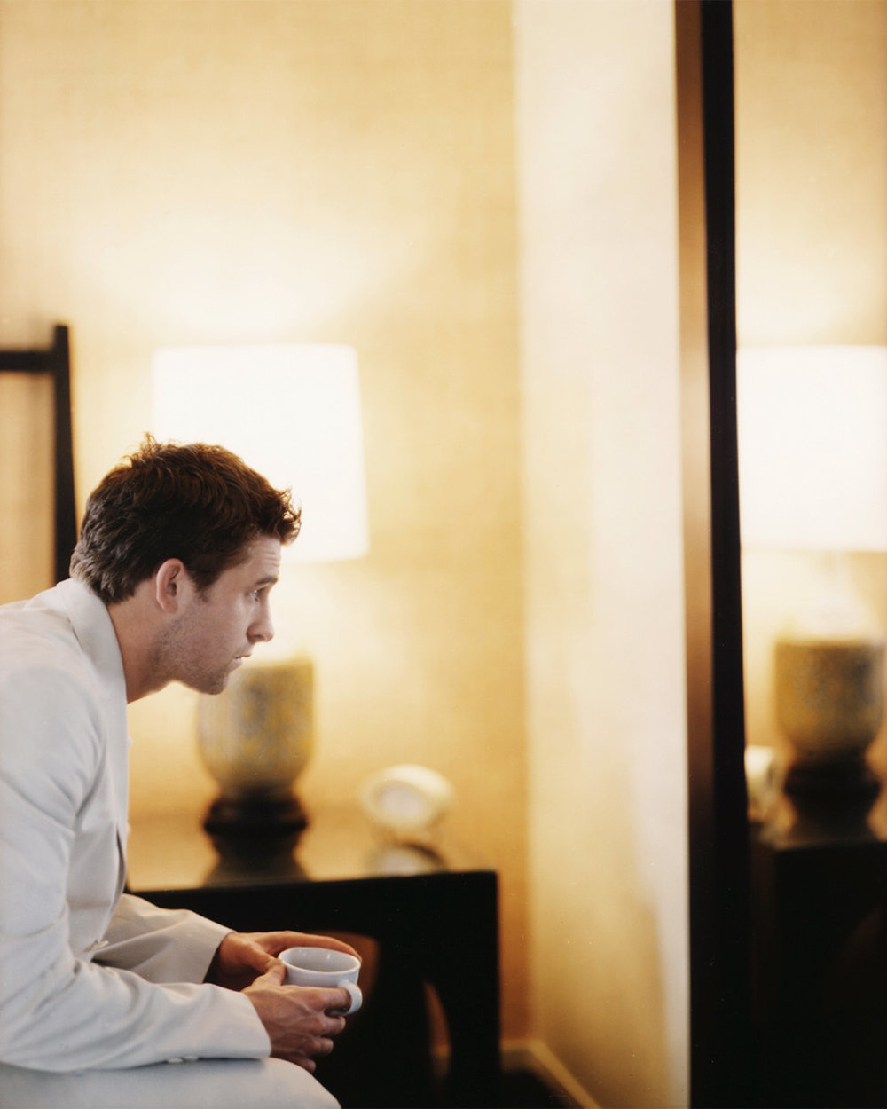 Scott Speedman photographed on large format by Patrik Andersson in a Los Angeles Hotel