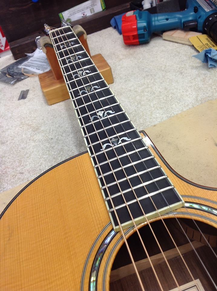 New fret job completed