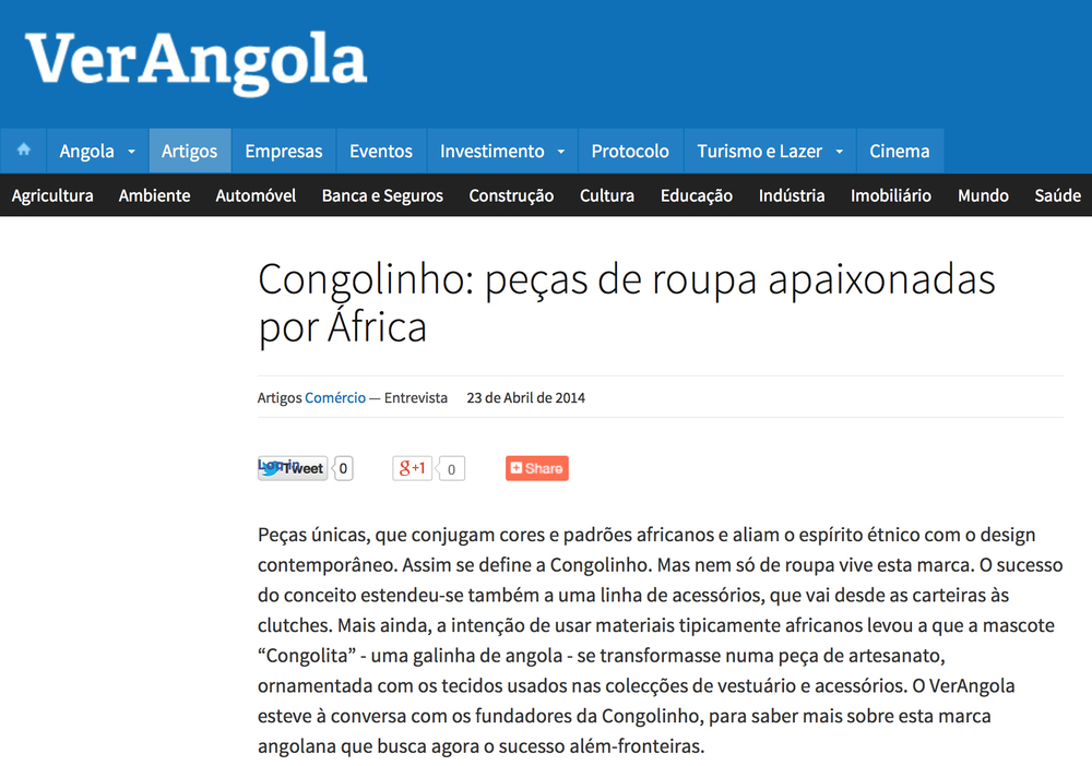 VerAngola, veja a entrevista  AQUI