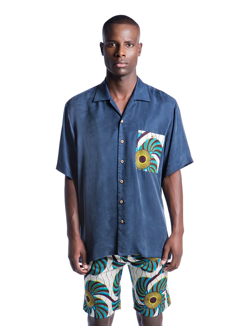 Camisa Caju Azul  SALDO