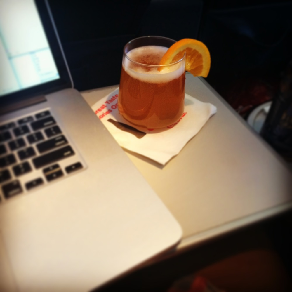Like the orange wedge in your complimentary Blue Moon when upgraded to First Class.