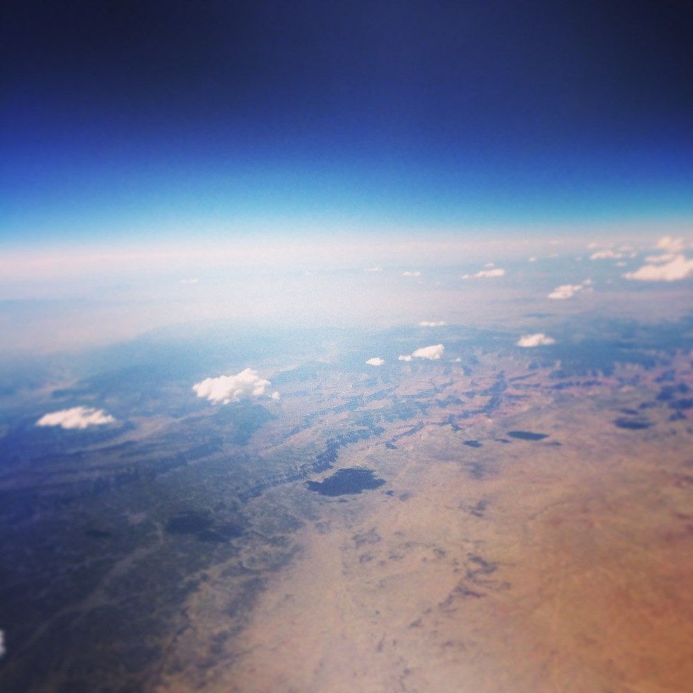 Flying over Arizona on a beautiful day.