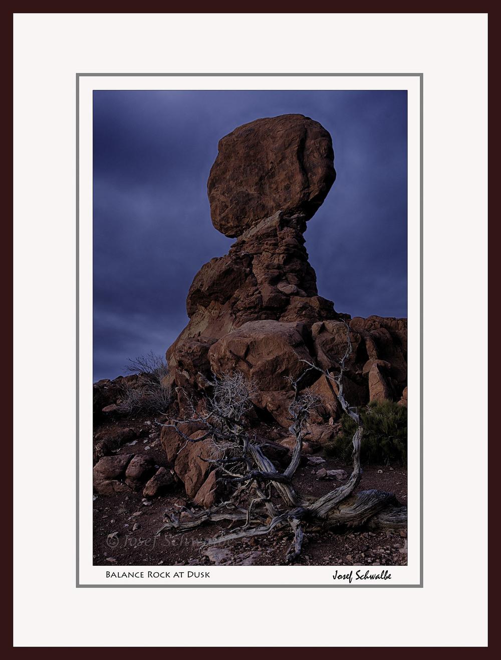 Balance Rock at Dusk