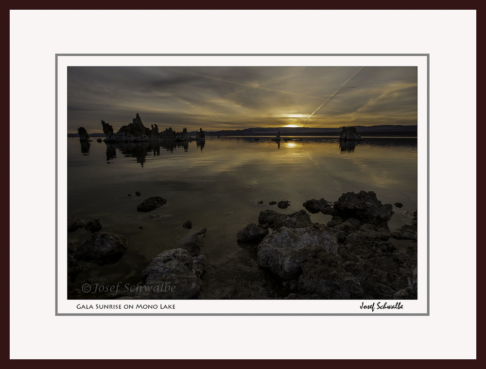 Gala Sunrise on Mono Lake