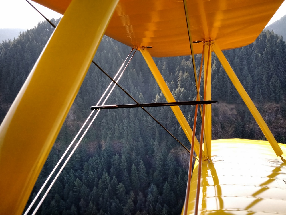 In Flight Over the Columbia River