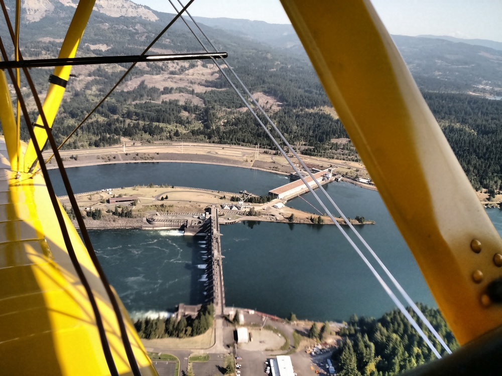 Flying to the Airshow Over the Columbia River Dams