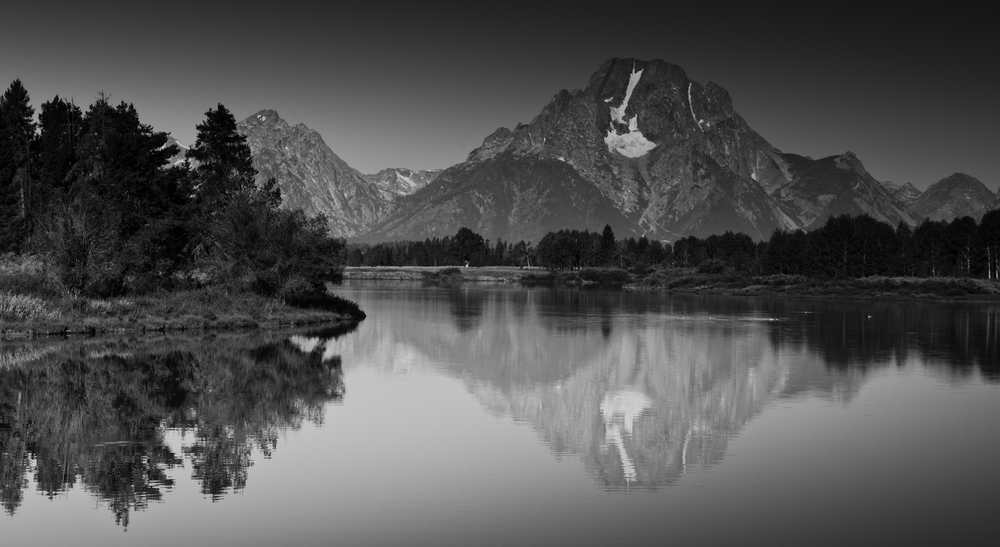 The Tetons Reflected in the River