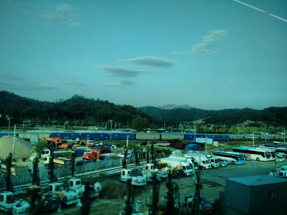 Korean Countryside from the Arex Airport Express Train