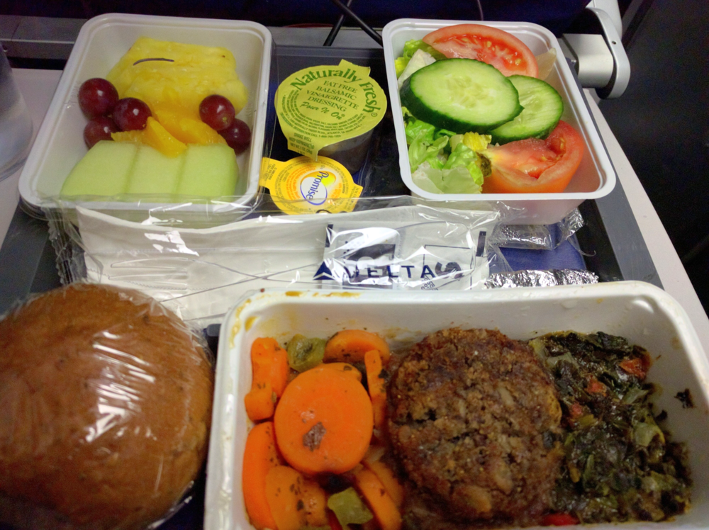 Delta Economy Vegetarian/Vegan Meal - Newark to Paris