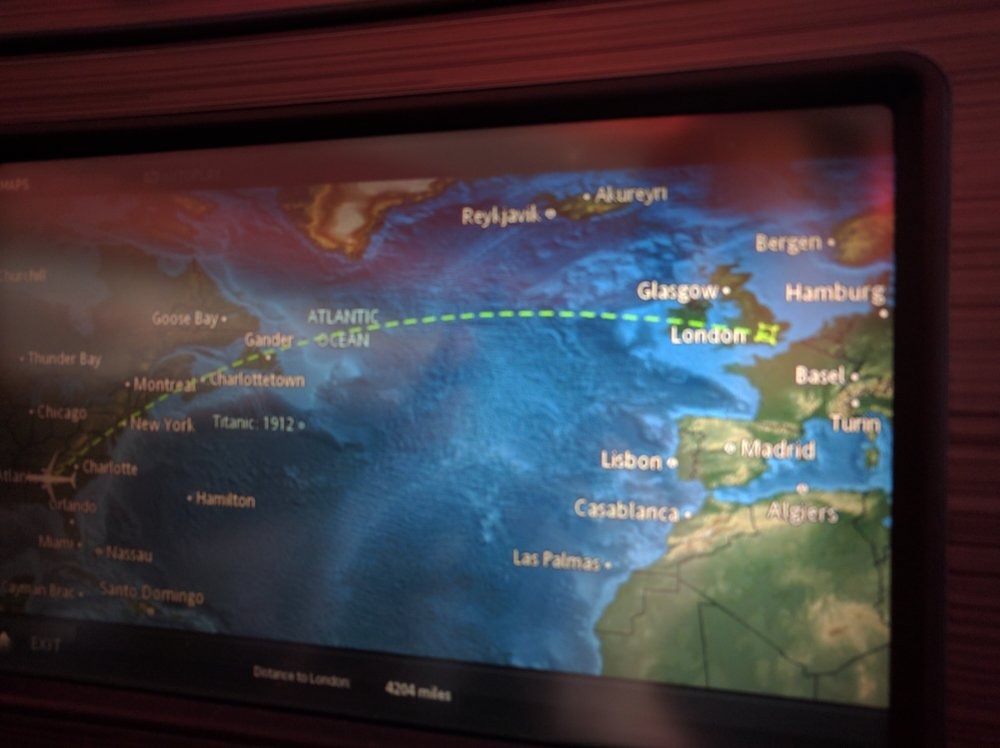 In flight airshow