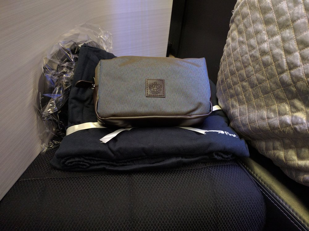 Amenity Kit and Sleepsuit