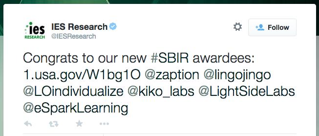 IES Research tweet