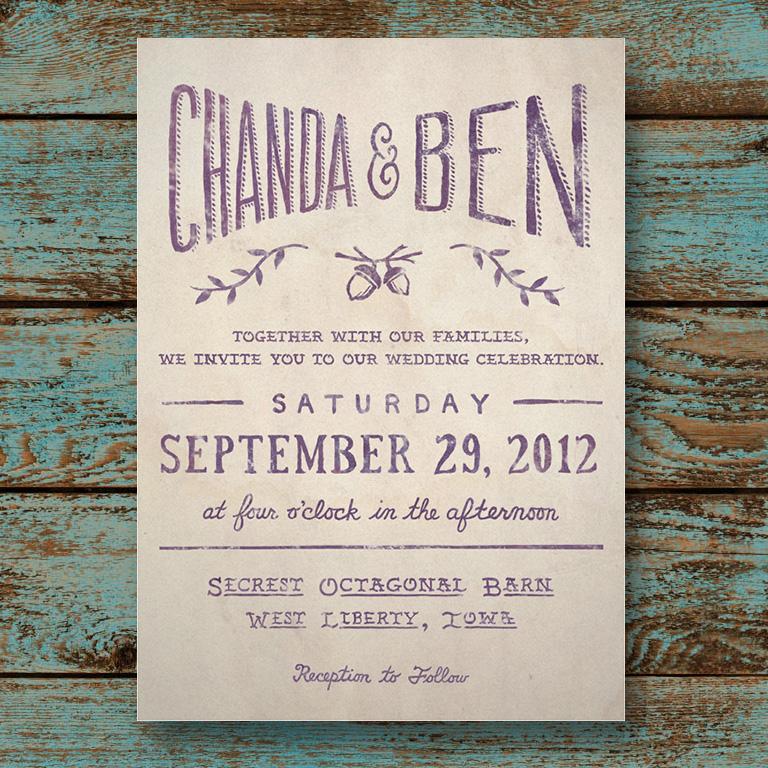 HandLettered Wedding Invitations Amanda Morrow