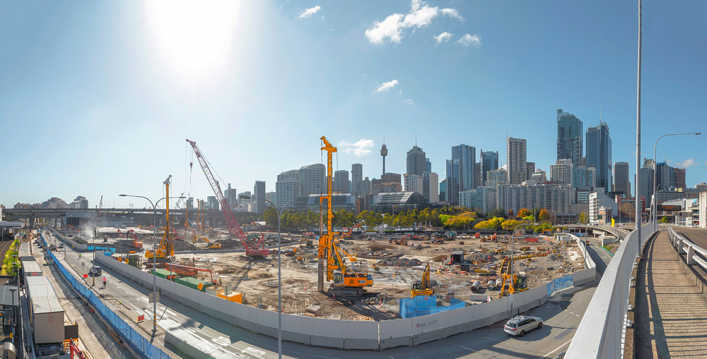 Darling Harbour Live Construction project : Client Piling Contractors