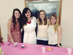 Emily Taylor, Hannah Beers, Cassie DeClerc, and Kaytee Mitchell are pictured at the Daughters of the King conference in Van Buren, Missouri.