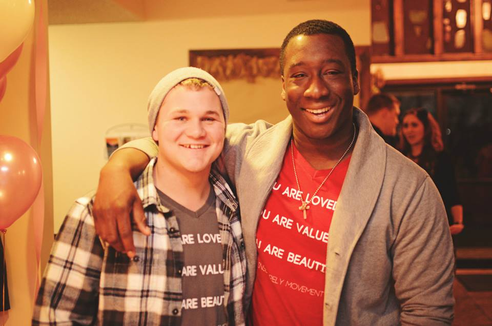 Josh Buckner, spoken word artist, and Nii Abrahams, writer, are pictured at the You Are Loved conference in Strafford, Missouri.