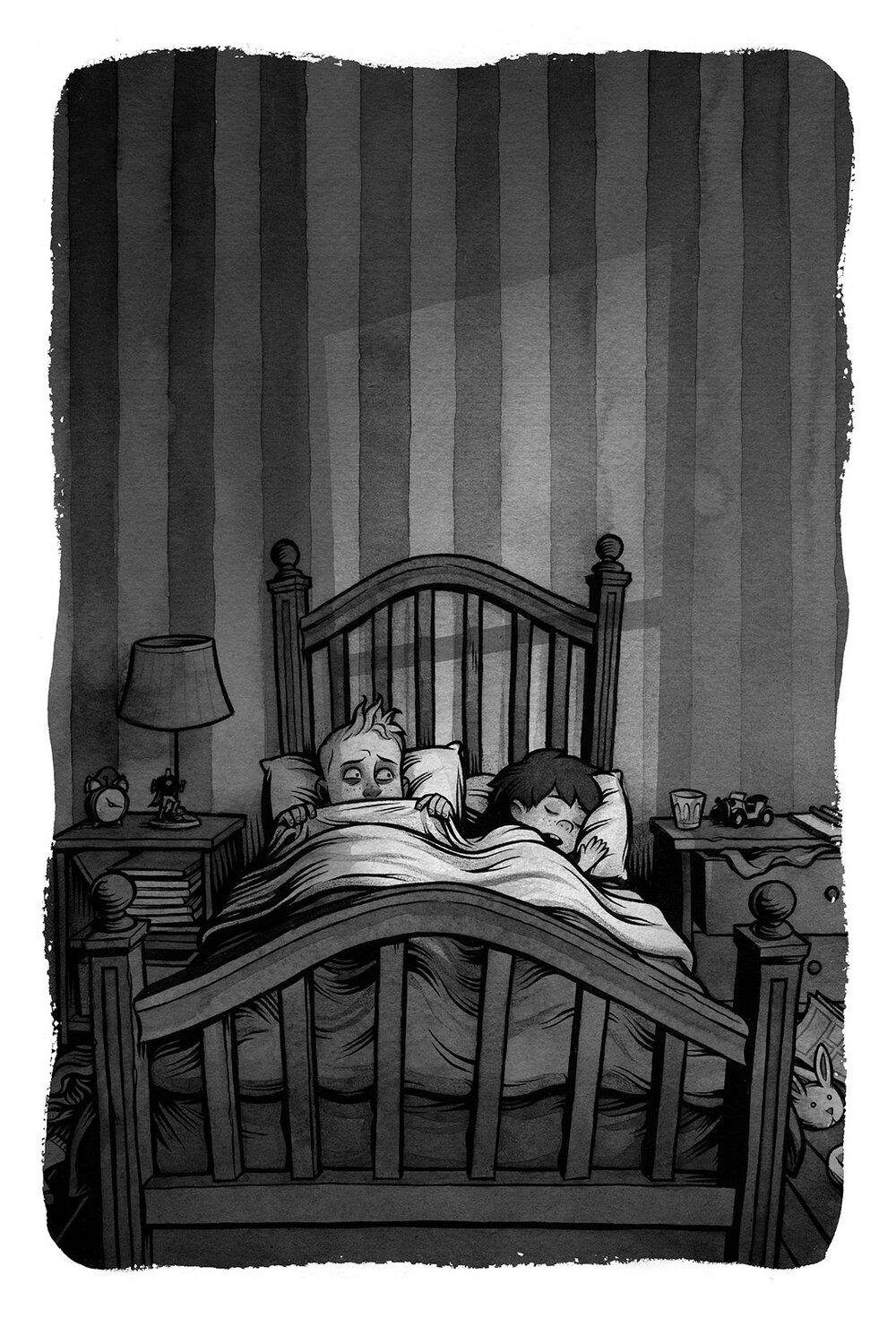 Interior illustration for  Nightmares!  by Jason Segel & Kirsten Miller