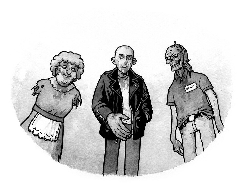 Interior illustration for  Nightmares! II  by Jason Segel & Kirsten Miller