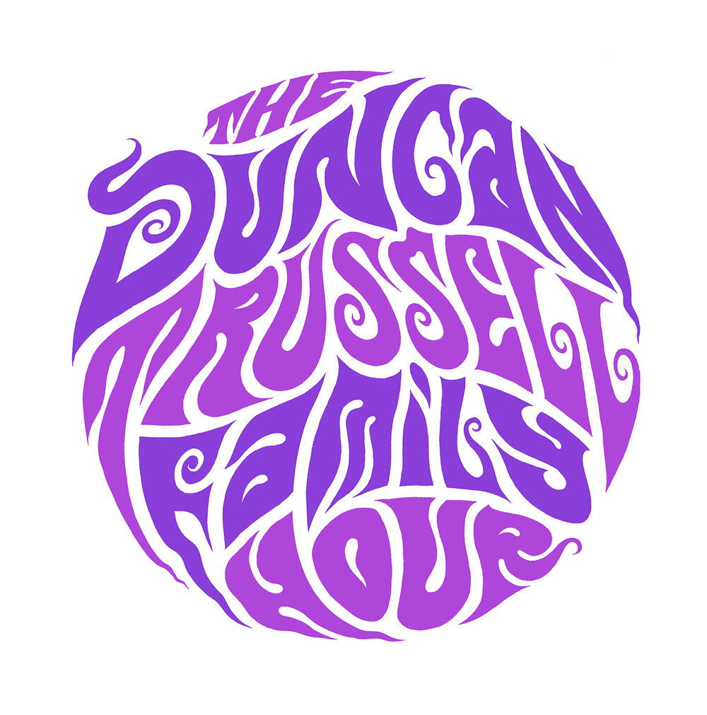 T-shirt typography for my favourite podcast,  The Duncan Trussell Family Hour