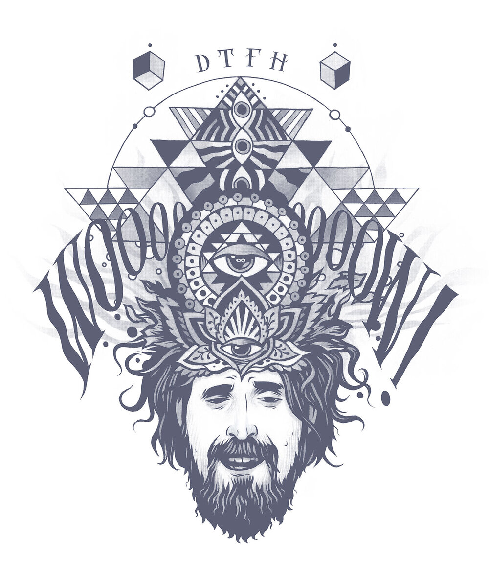 T-shirt illustration for my favourite podcast,  The Duncan Trussell Family Hour