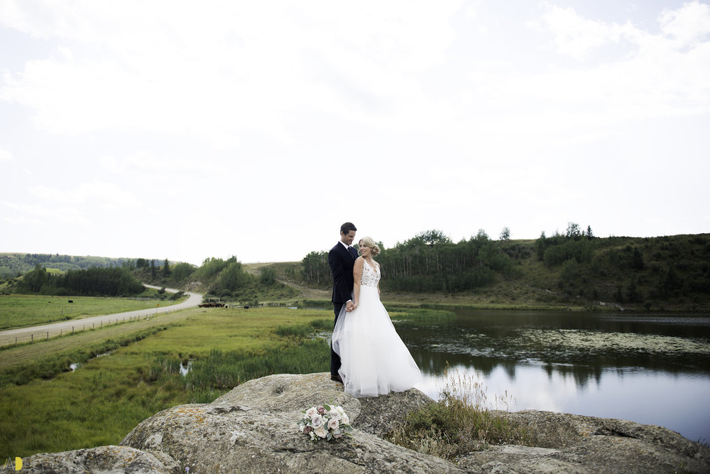 Jaclyn and Curtis's Cochrane Backyard Wedding