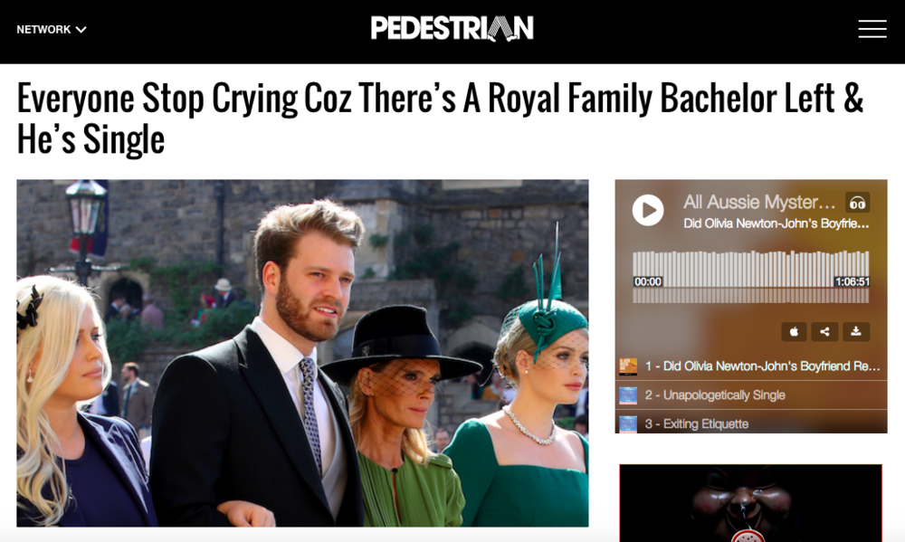 Oh look! Pedestrian has irrelevant things to say about almost everything.