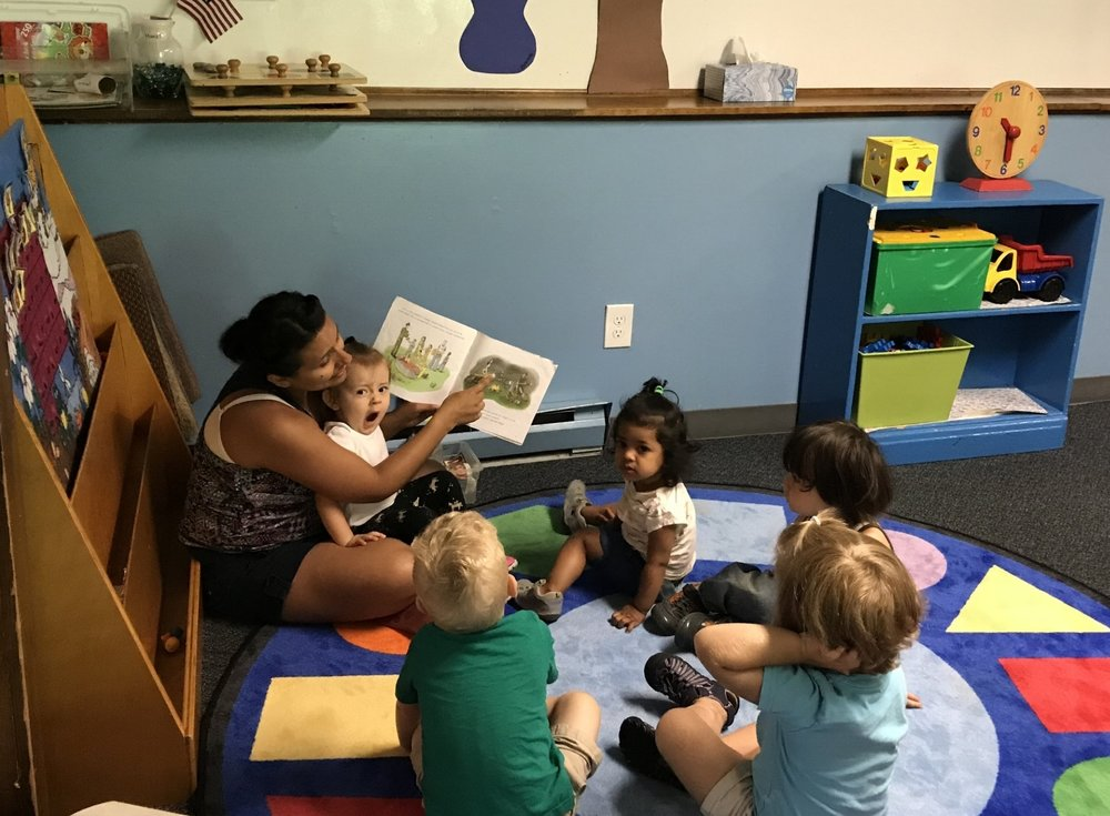 Story Time with our Toddlers.