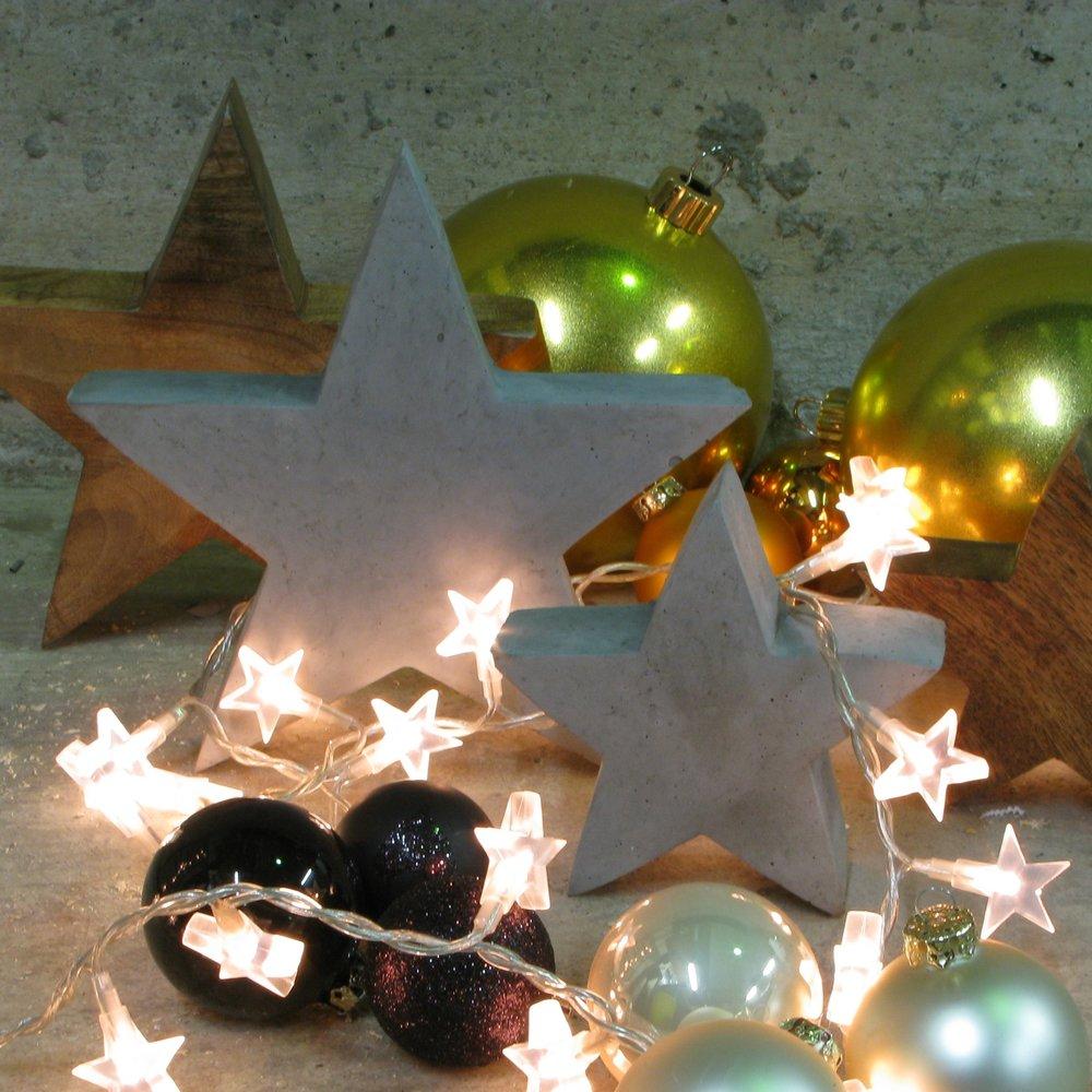 Beton Sterne Weihnachten