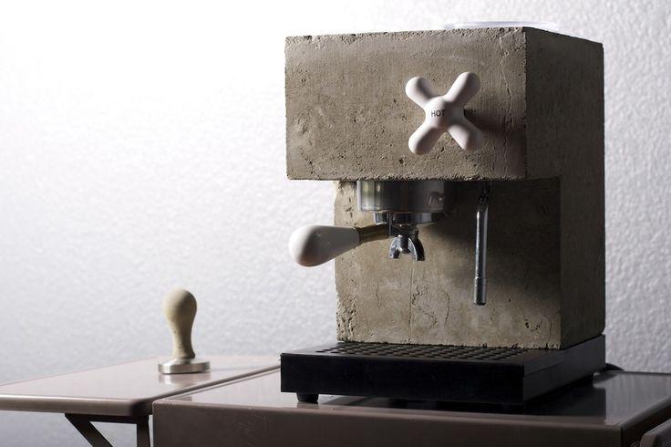 Kaffeemaschine Beton