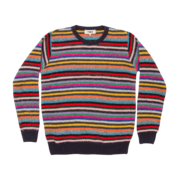 Y.M.C.   Brushed Wool Stripe Knit  £179