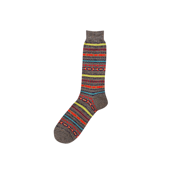 Anonymous Ism   Fairisle Crew Sock  £11