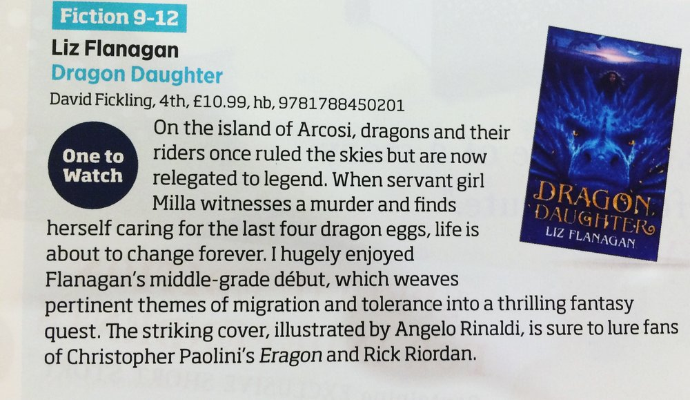 Bookseller Review of Dragon Daughter