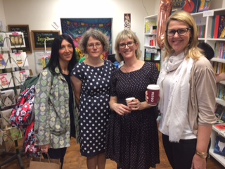 Liz book launch school friends.JPG