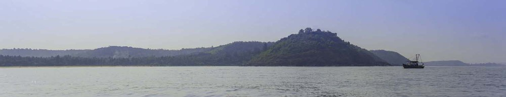Goa coastline seen from a kayak on a Goan adventure tour