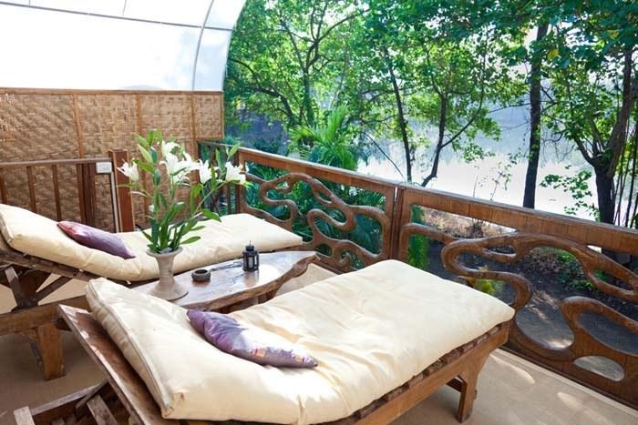 Balcony view of Mandala villa accommodation