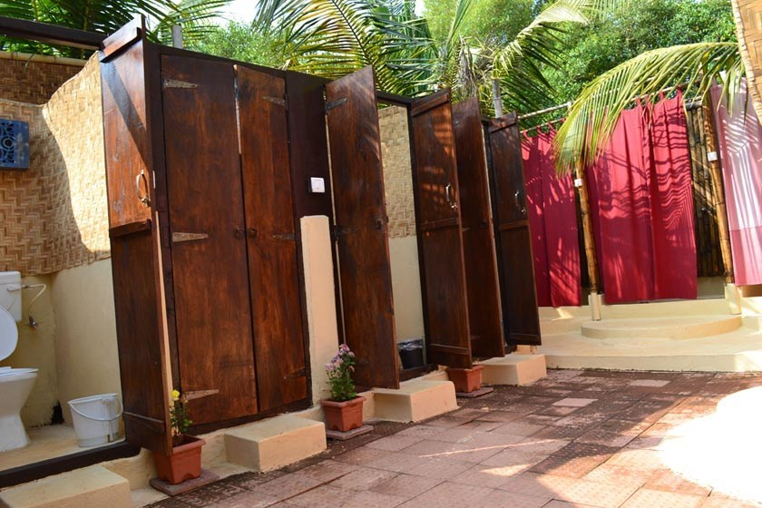 Washrooms in morning light at The Mandala