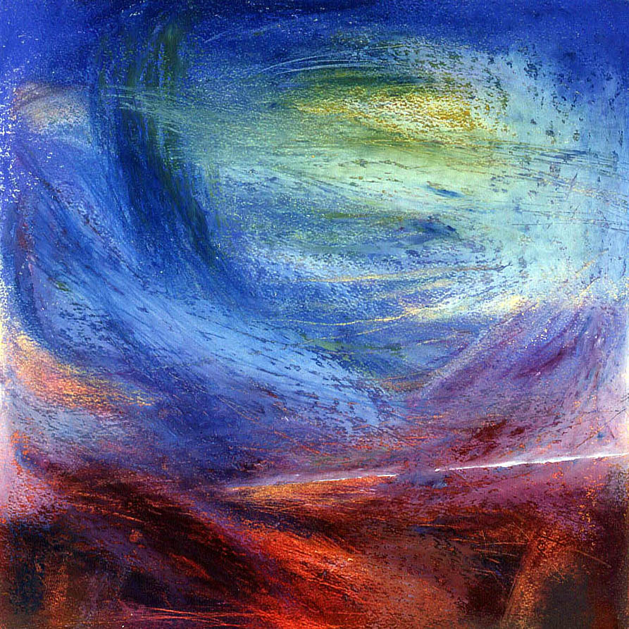Curve of the Earth 2 - Oil Pastel