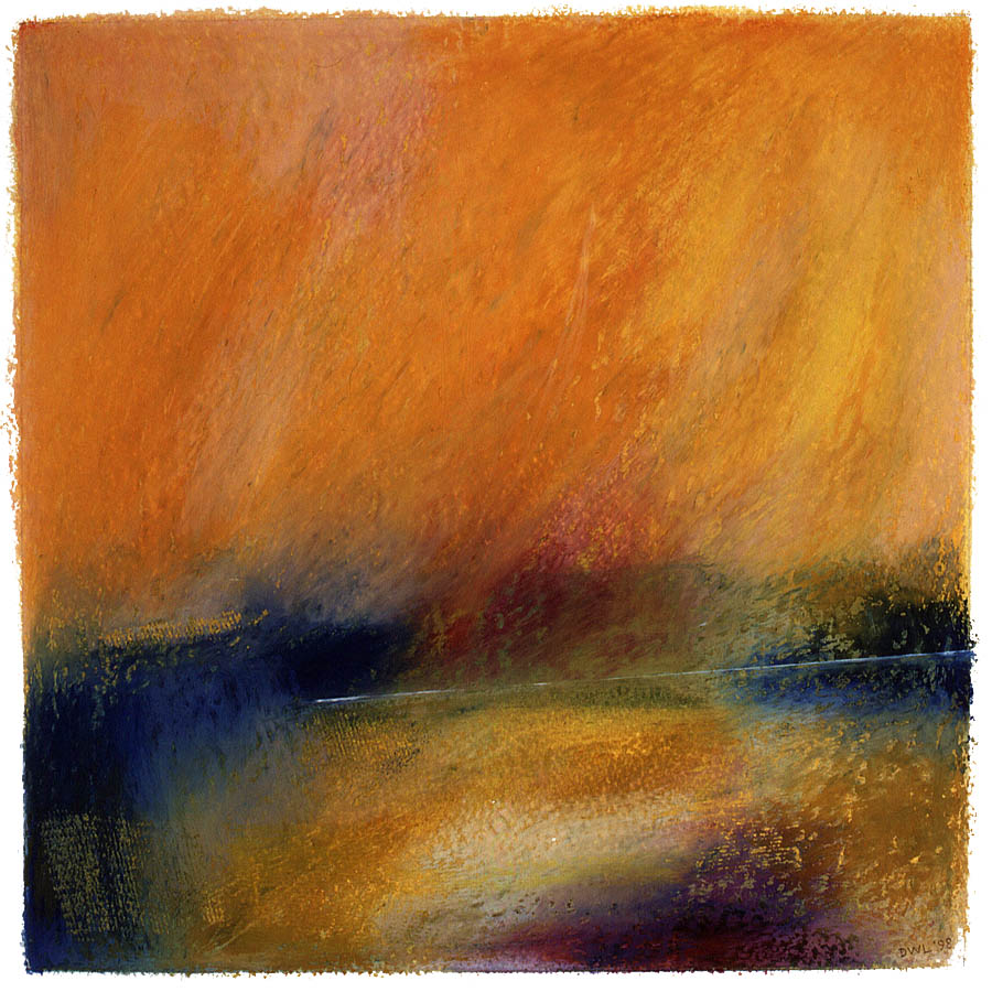 Curve of the Earth - New Day - Oil Pastel