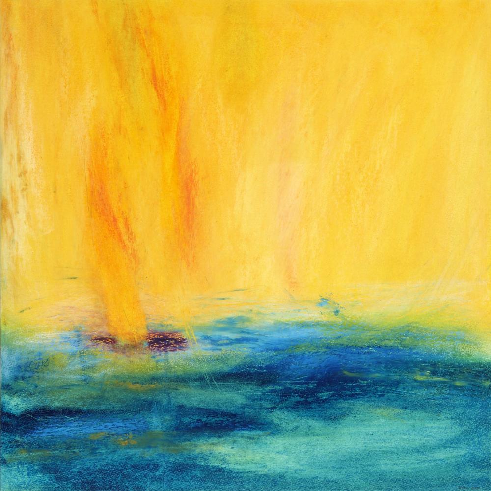 Dreamscape – Evapouration - Oil Pastel