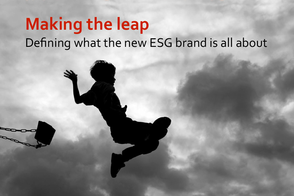 Title slide of the ESG brand Discovery deck
