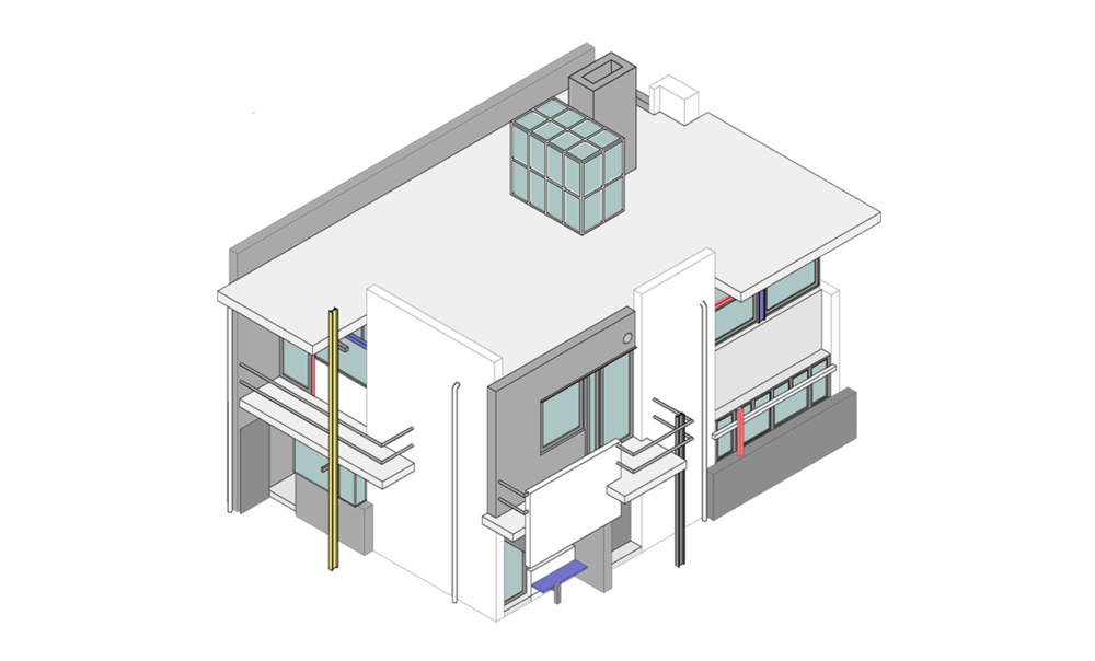 house isometric view